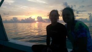 IMAG0117, Melissa and Julianna sunrise